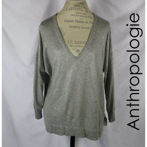 Anthropologie Gray Wool Blend Blouse By Joie M